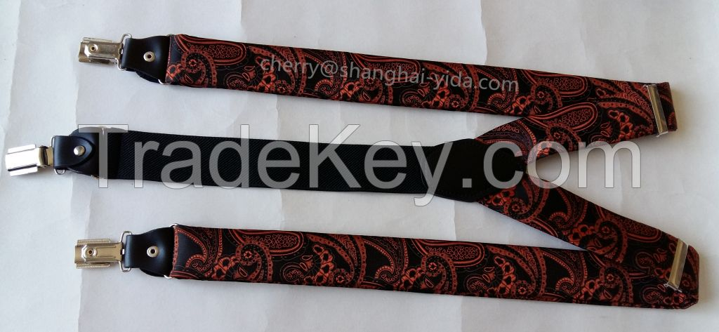 3.5CM  Polyester with genuine leather loop(SP16402)