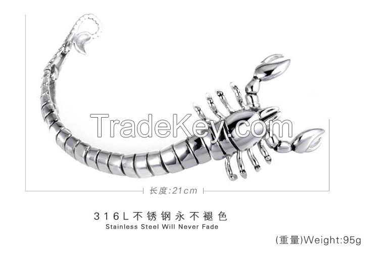 2016 Hot sale high qulaity stainless stell bracelet for men