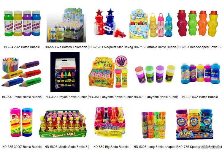 bottle bubble and tube bubble