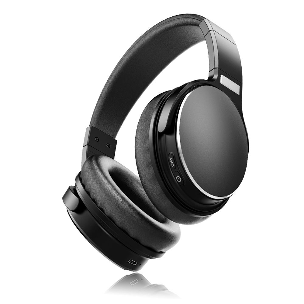 H1 Active Noise Cancelling Bluetooth 5.0 Headphones Bass Enhancement Wireless with Noise Cancelling Microphone
