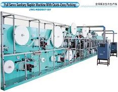 Servo Motor High-speed Sanitary Napkin Machine/lady napkin machine