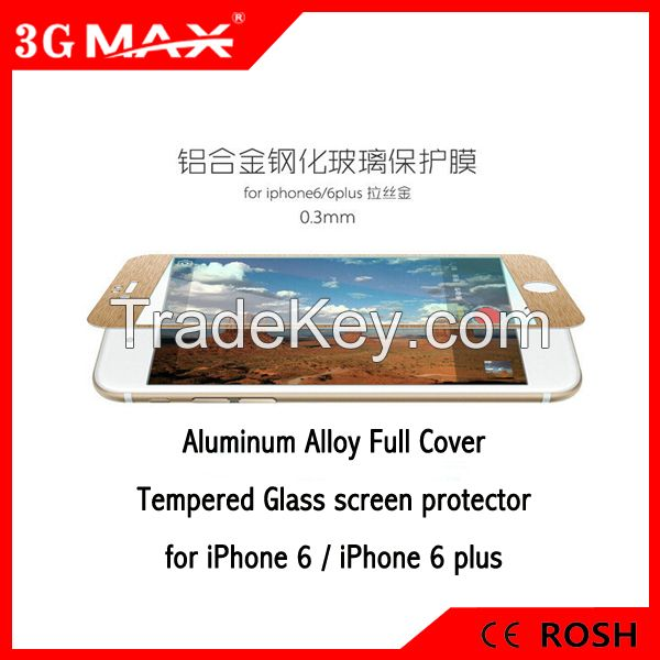 Aluminum Alloy Tempered glass screen protector for iPhone 6 4.7