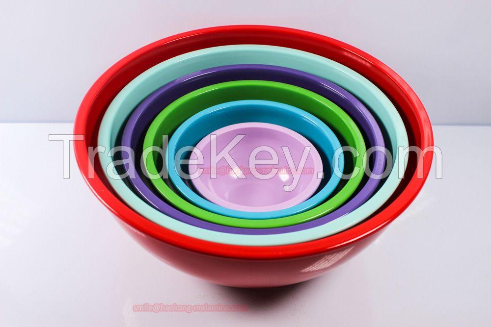 6pcs mixing melamine bowl sets