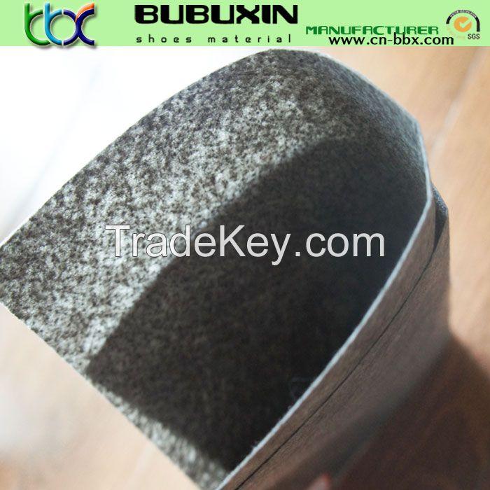 Nonwoven imitation leather for shoe lining