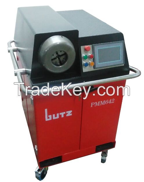 Tube end forming machine for EO2FORM and WALFORM connections