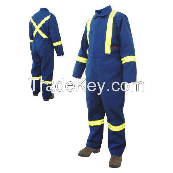Reflective 100% cotton Fireproof Suit for industrial workwear