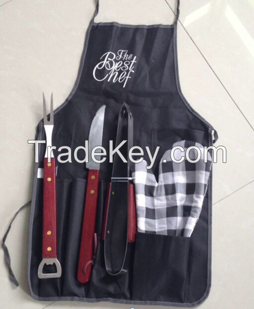Apron  stacked BBQ tool set