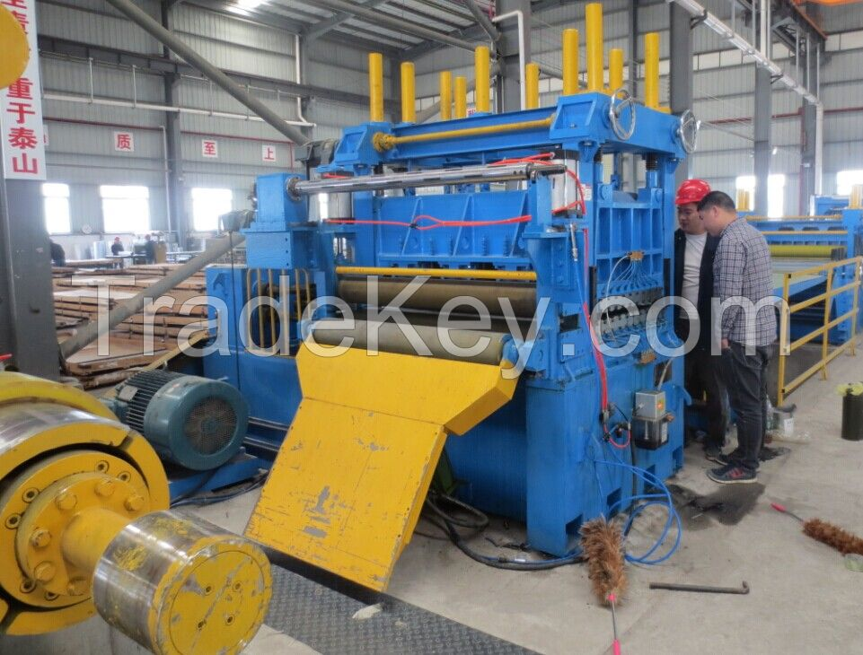 steel strip coil cut to length line
