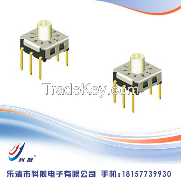7*7mm Rotary Type ,7.2*7.2*0/3.0 Surface Mount  Rotary Switch