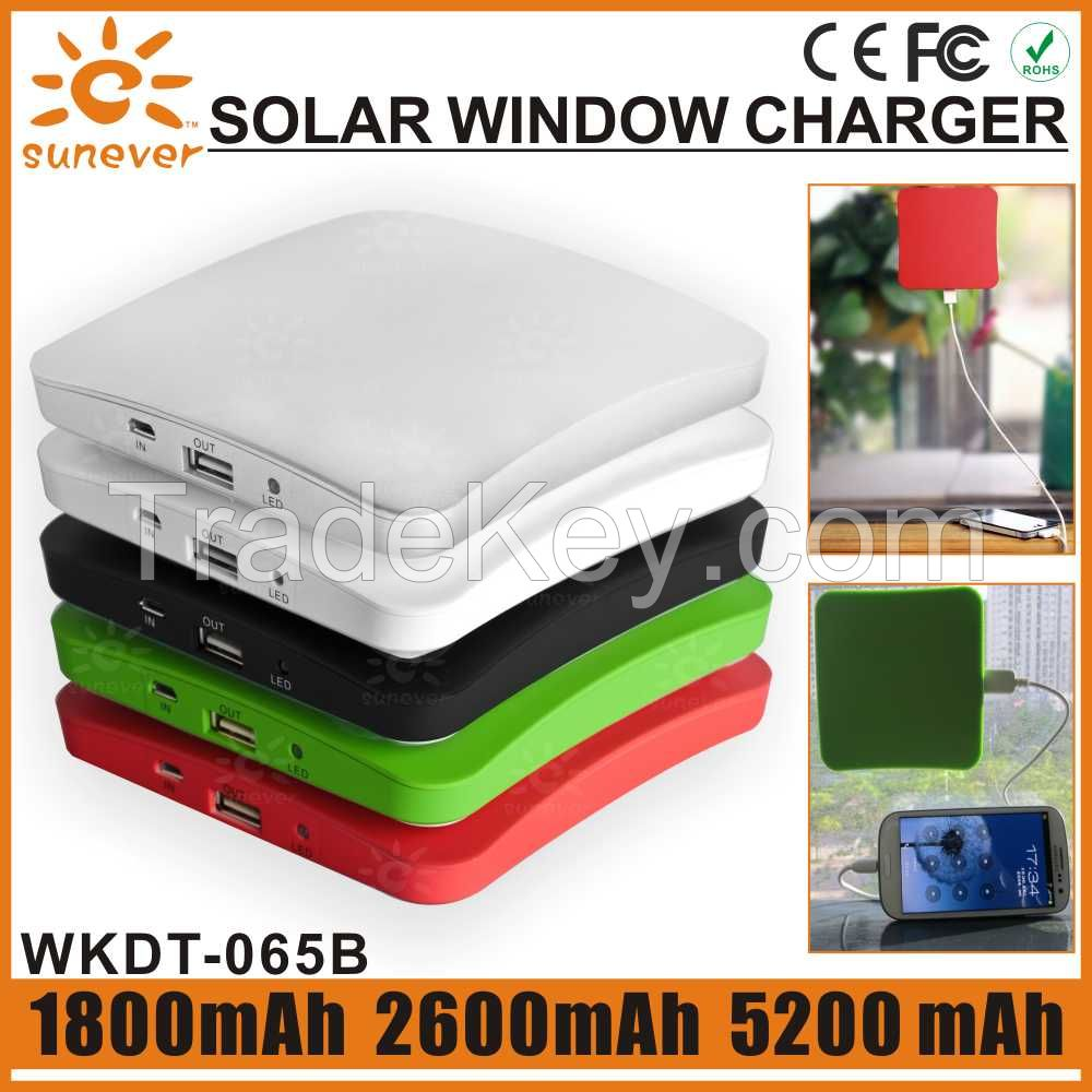 Built-in battery 1800mah and 5000mah portable solar mobile phone charger/solar cell phone charger/solar power bank