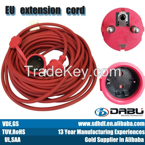 waterproof extension cord with VDE, CE, ROHS approval
