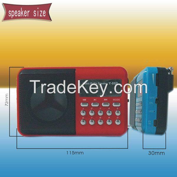 Portable Mini large volume digital radio speaker