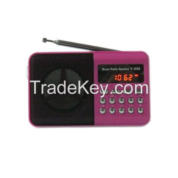 Mini Loudsound FM radio digital Speaker