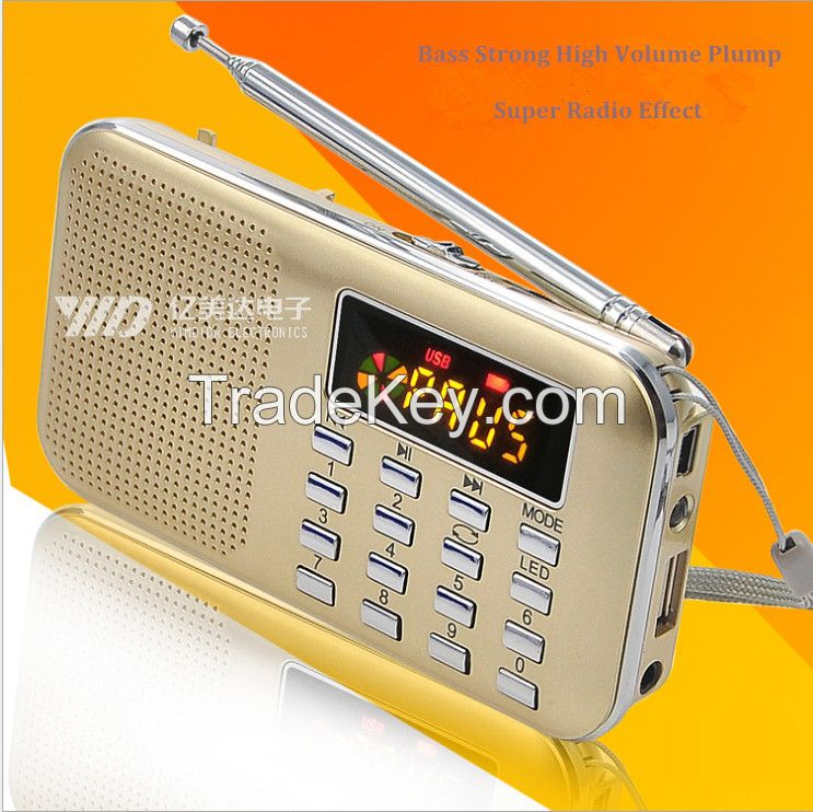 High quality digital usb mini fm radio speaker promotion