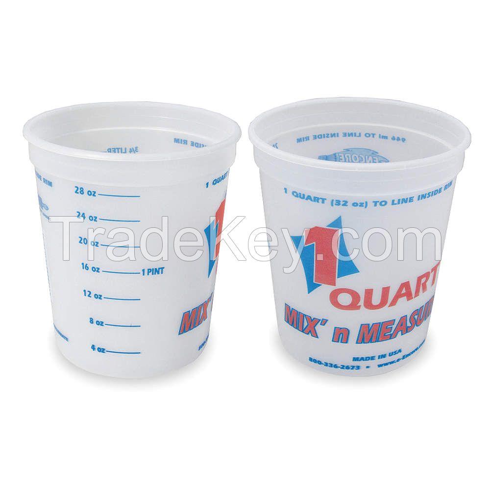 ENCORE PLASTICS 2FCA3 Paint Mix/Measure Cont. 1 qt. PK24