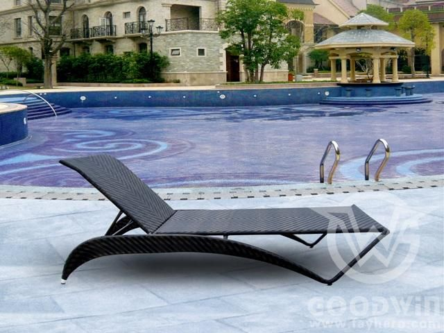 GW3274-L1 outdoor furniture rattan woven pool furniture chaise lounge
