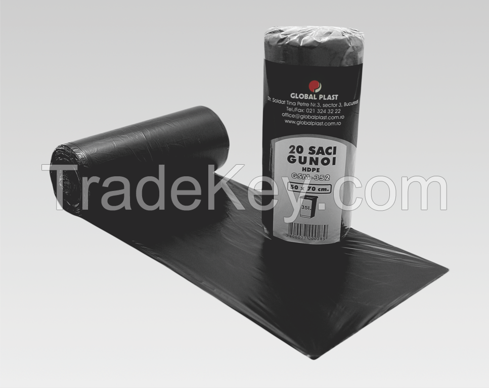 Wholesale LDPE black  can liner bags on roll
