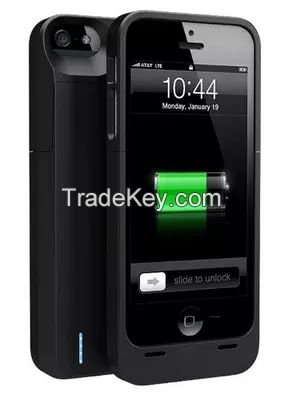 Real capacity 2300mAh external protective backup battery charger case for iPhone 5 / 5S
