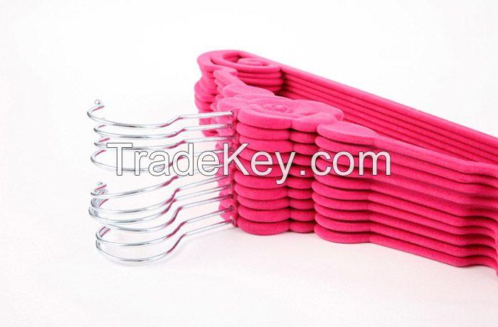 Rose shape velvet hanger