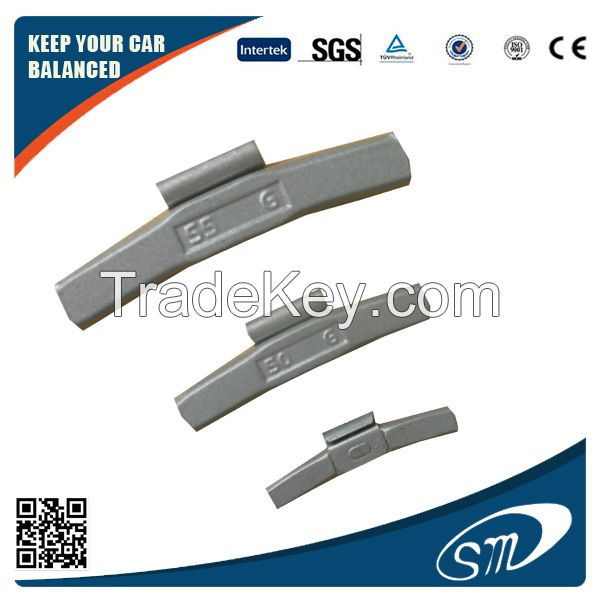 Fe clip on wheel weights