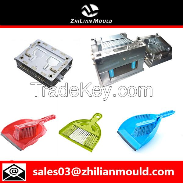 Plastic dustpan and brush mould by China