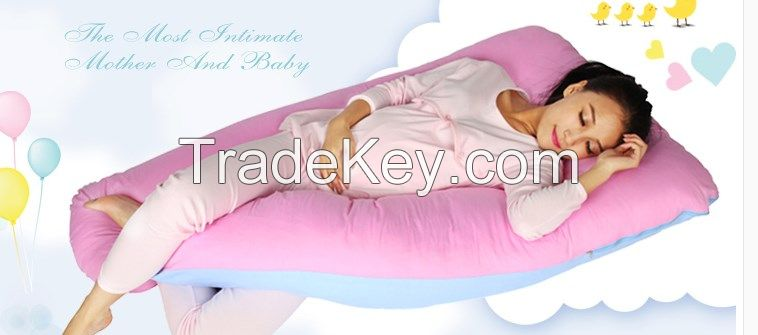 U-shaped Premium Contoured Pregnancy body Pillow Maternity pillow with zippered cover