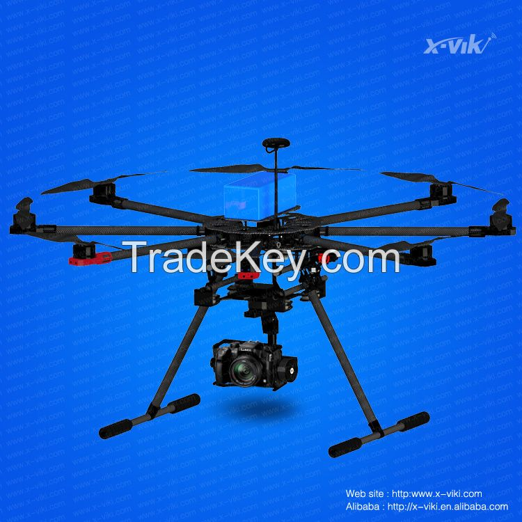 newest arrival carbon fiber rc multicopter octocopter X900 UAV drone with GPS for aerial photography