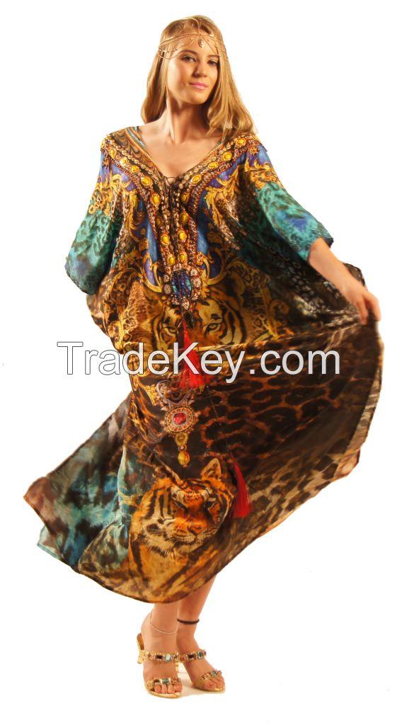 Pure silk designer kaftans