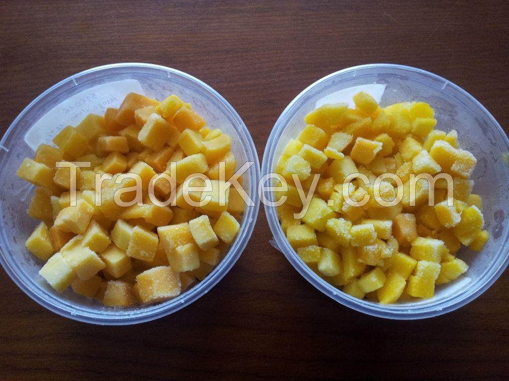 frozen mango, mango half, mango custom