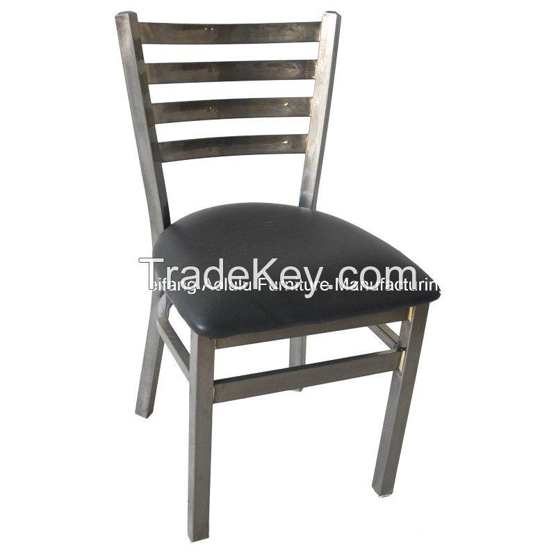 Ladder back metal chair for restaurant furniture