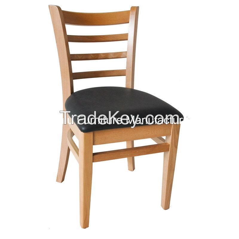 Ladder Back Beech Wood Chair for Restaurant furniture(ALL-1001)