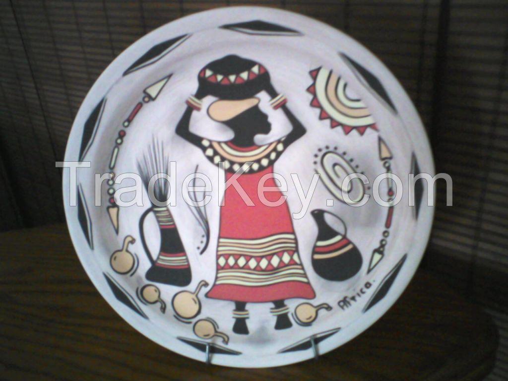 Ceramic hand painted plates - docorative purposes