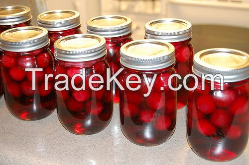 Quality canned cherries