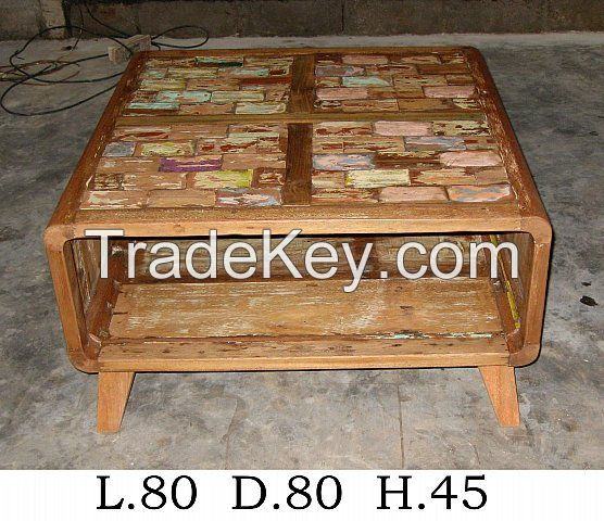 Coffe Table- Special Design - Boat Furniture -Recycled Furniture