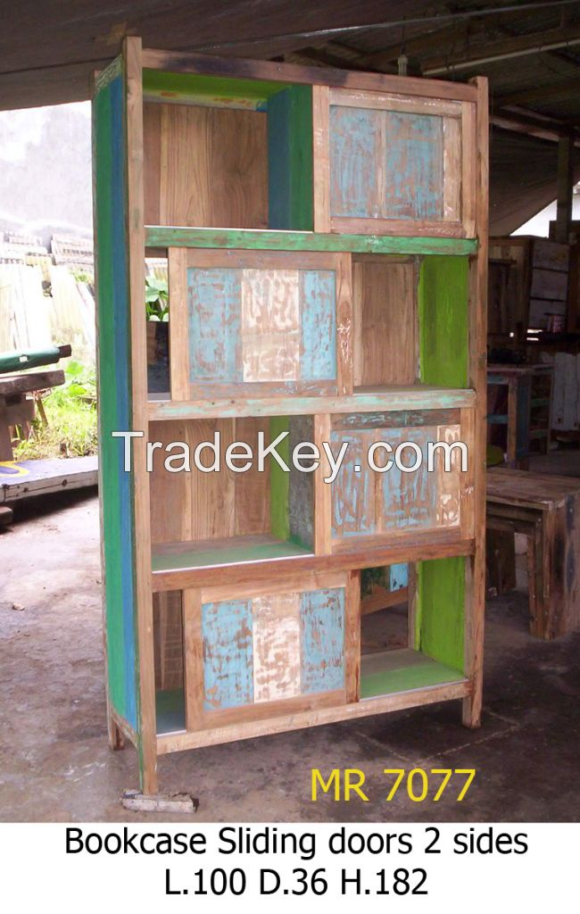 Bookcase, Bookshelf- Boat Furniture - Recycled Furniture - Special Design