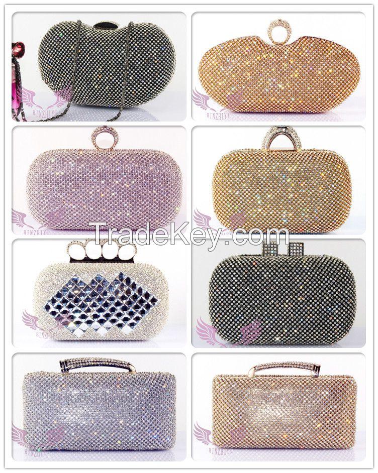 High Quality Evening Crystal Clutch Bag O