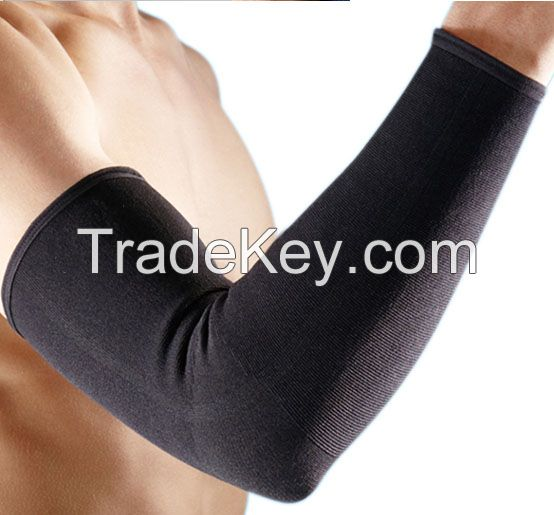 long size  elastic elbow support arm brace protector belt band for sports multicolor