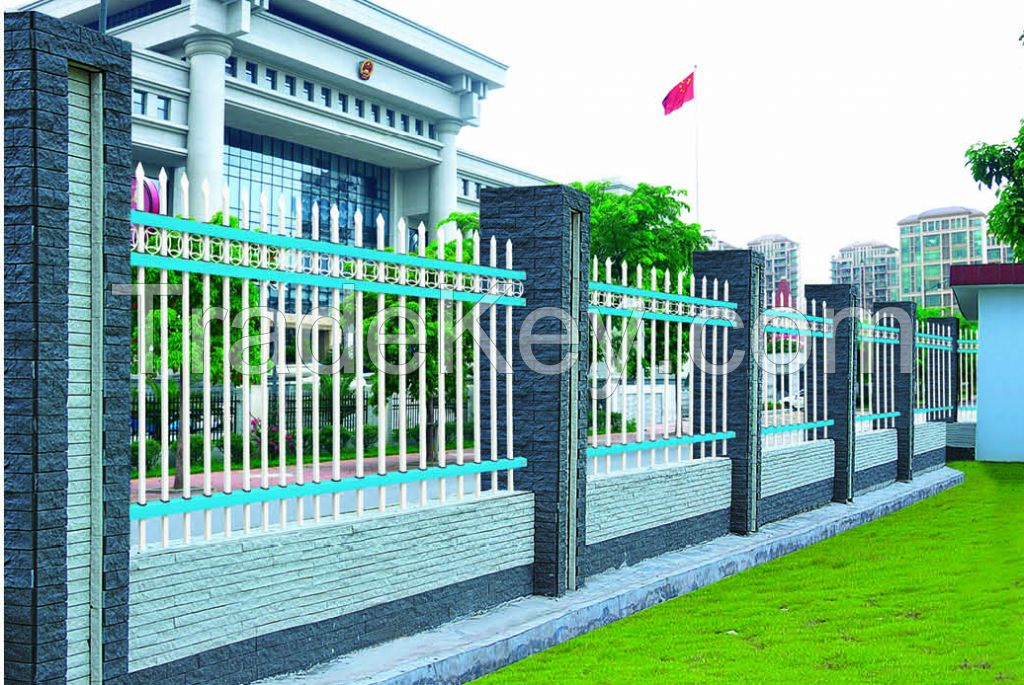 Non-welded Galvanized Zinc Steel Building Handrail Fence, Garden Railing Fence