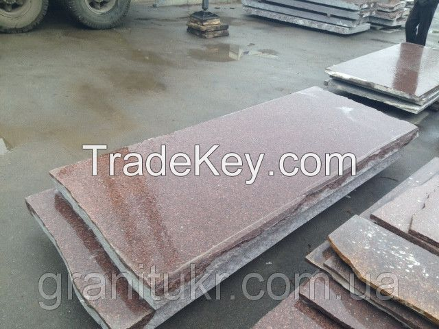 Granite of Rosso Carpazi (red) from Ukraine