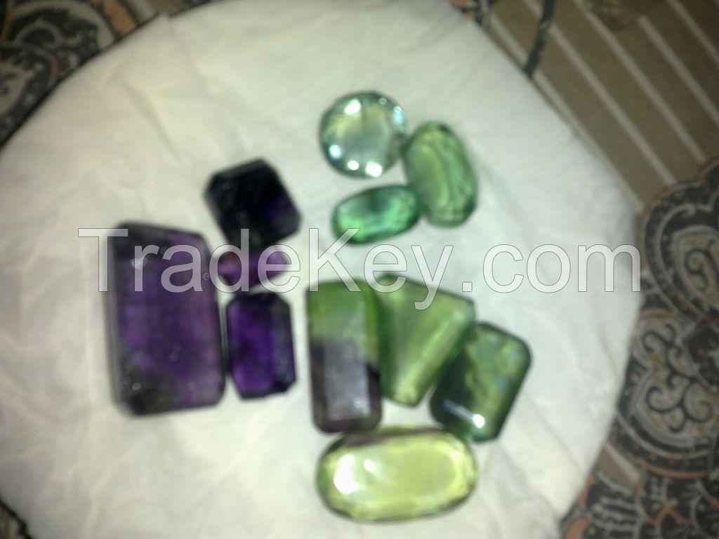 Aquamarine, Flourite, Topaz