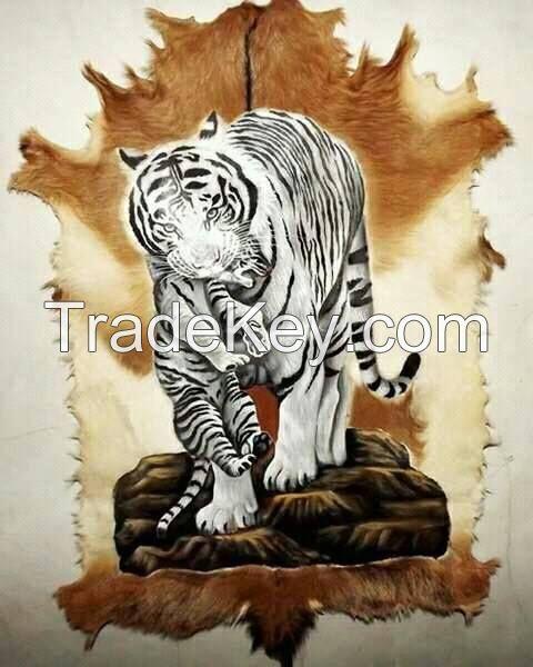 handicraft from goat skin