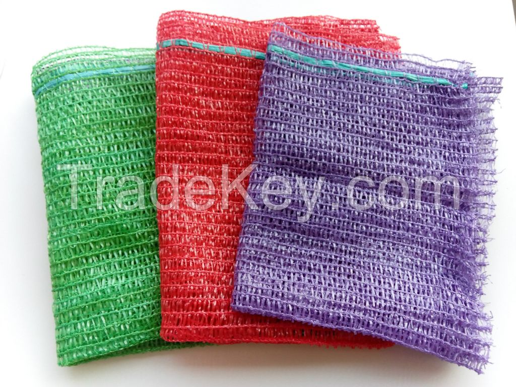 100 PC Bale Net Knitted Mesh Bag Sack With Tie Top Drawstring