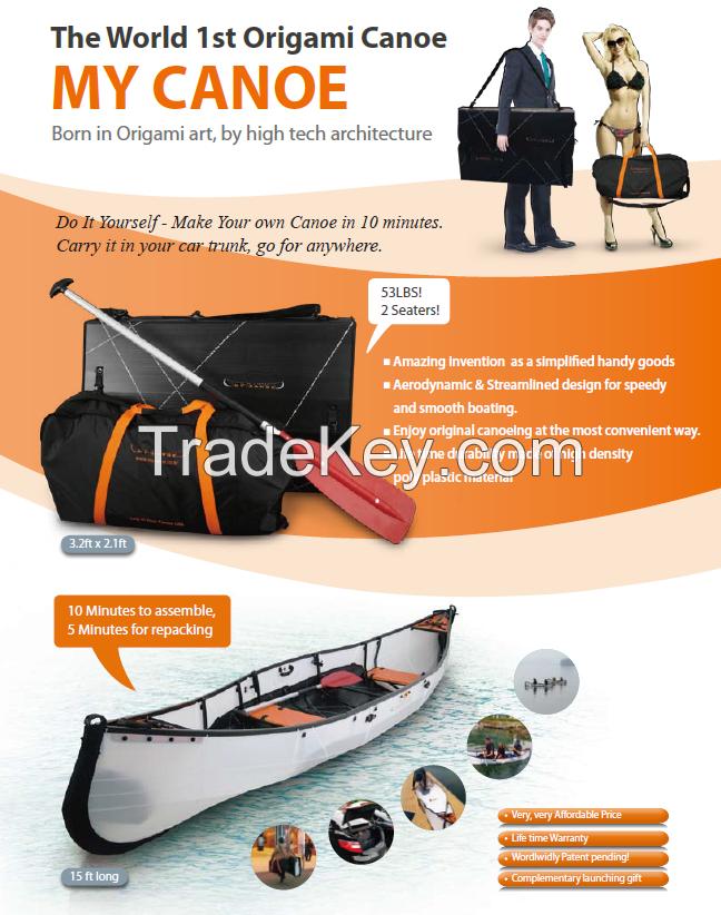 The Origami Canoe, My Canoe.