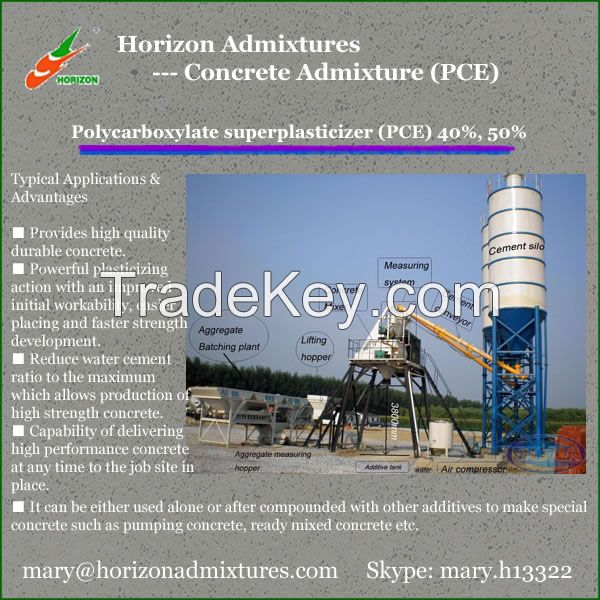 Concrete Mortar Polycarboxylate Superplasticizer