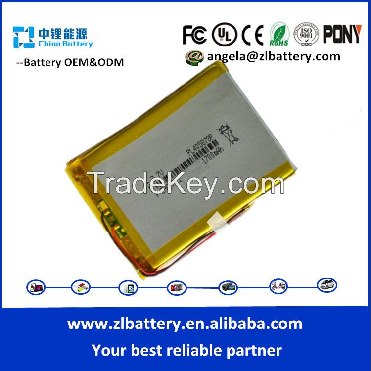 Factory price !!2015 best selling 3.7V 1200mAh 365590 model bluetooth polymer battery