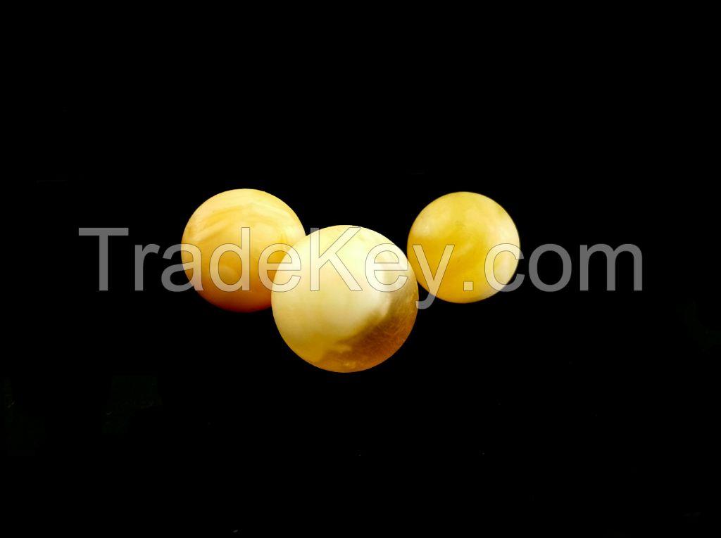 Natural baltic round amber beads
