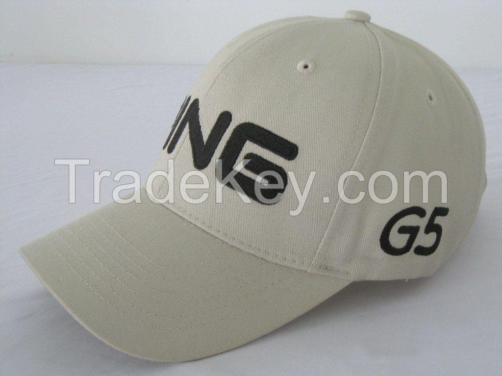 customer logo embroidery brushed cotton twill one size adjustable baseball hat