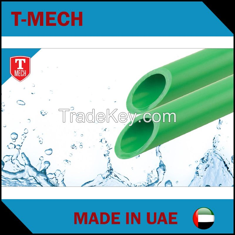 Uae factory price list ppr pipe and fitting small size green