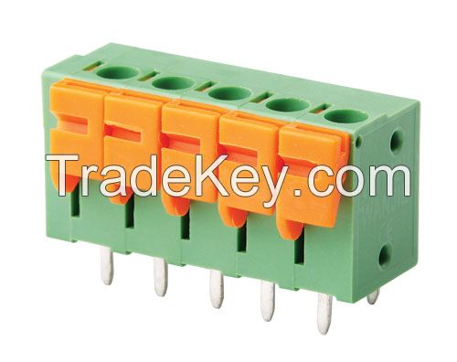 PCB Spring Terminal Block Connector (WJ142V-5.0/5.08/7.5/7.62mm)