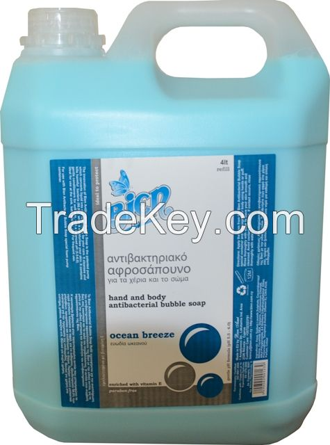 Antibacterial Hand and Body Bubble Soap 4000ml (4 Liters)